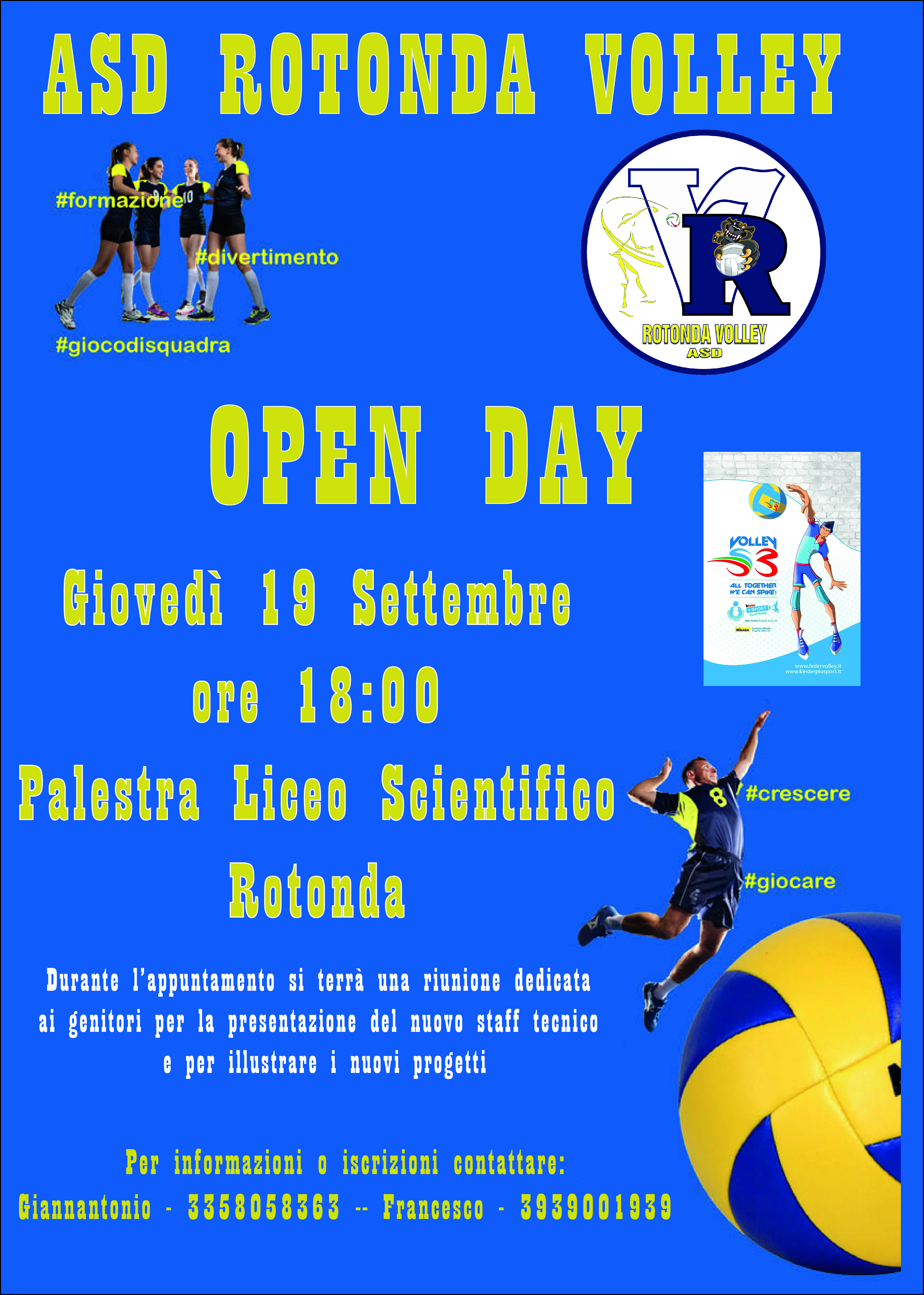 Open Day - Stagione 2019 - 2020