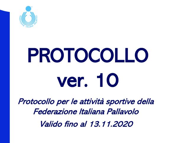 Protocollo per le attività sportive della FIPAV valido fino al 13.11.2020